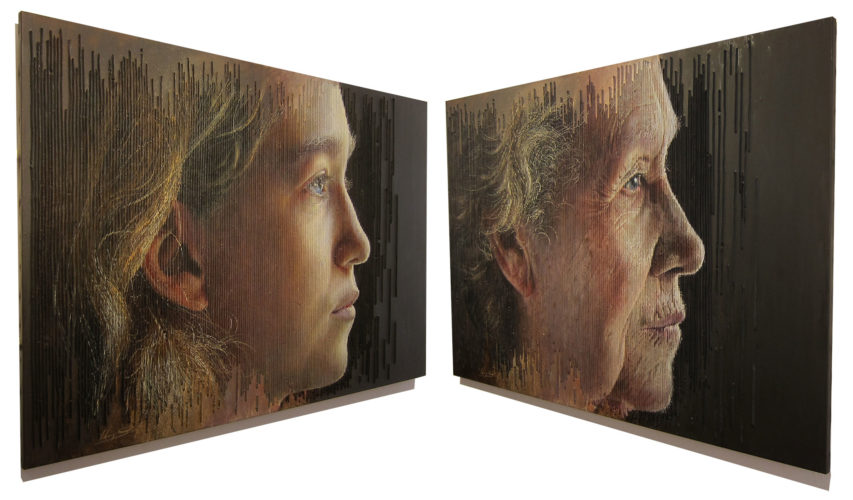 Sergi Cadenas- Optical Art displayed in Jordi Barnadas Gallery