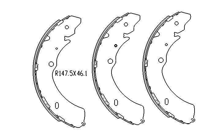 RDA REAR BRAKE DRUMS + SHOES for Isuzu D-Max 2.4L 3.0TD 3