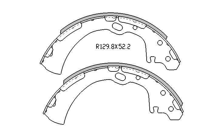 REAR BRAKE DRUMS+SHOES for Nissan Pathfinder D21 VG30E 3