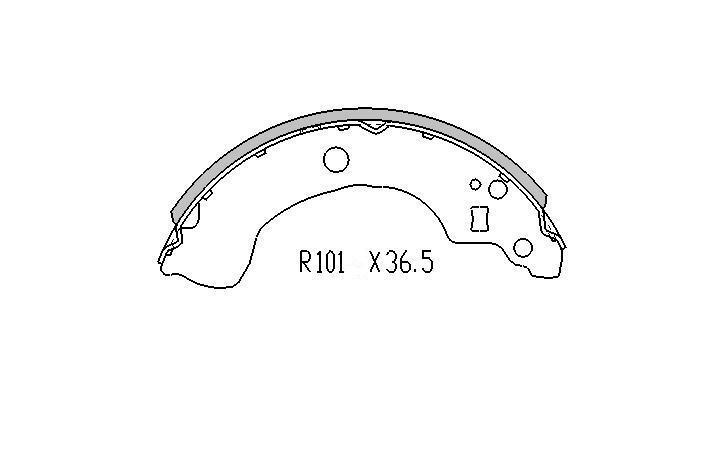REAR BRAKE DRUMS+BRAKE SHOES for Nissan Pulsar N16 Sedan 1