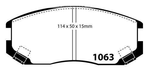 FRONT DISC BRAKE ROTORS+ PADS for Mitsubishi Lancer CE 1