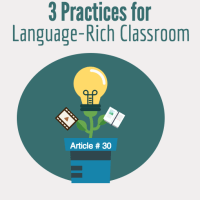 ELL strategies for creating an interactive, language-rich classroom for ELLs by displaying language scaffolds, posting recurring structures, and using notebooks.