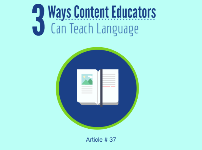37 Ell Strategies For Content Teachers How To Be A Teacher Of