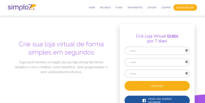 modelos de lojas virtuais plataforma simplo 7
