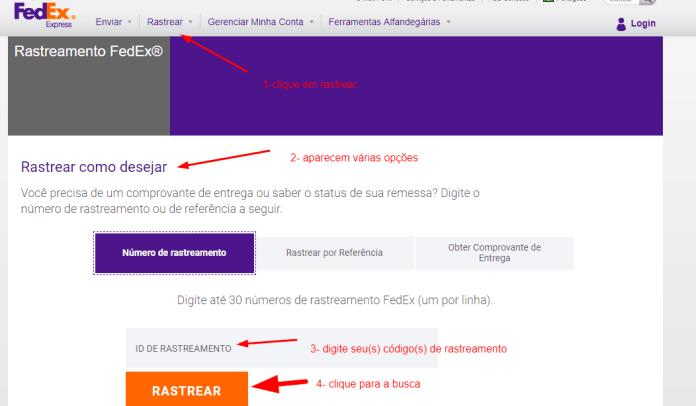 rastreamento Fedex