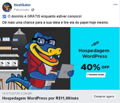 anuncio hostgator proposta de valor