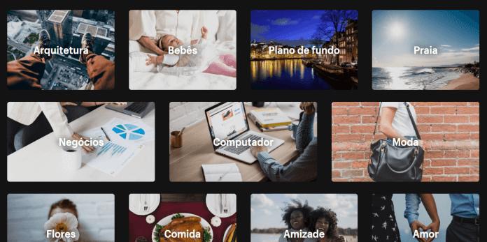banco de imagens gratuito shopify