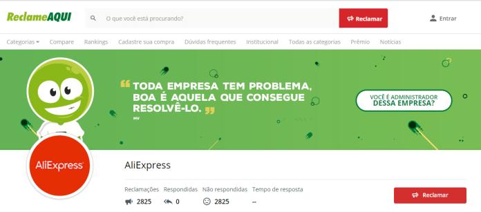reclame aqui AliExpress