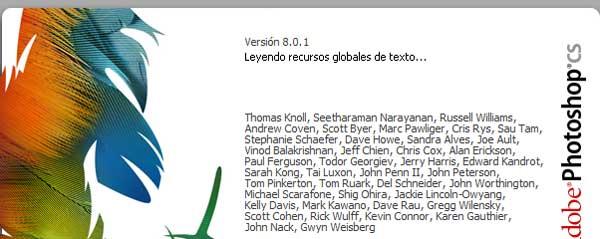 Solución bloqueo Photoshop: leyendo recursos globales de texto
