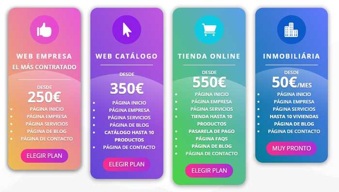 Planes diseño web