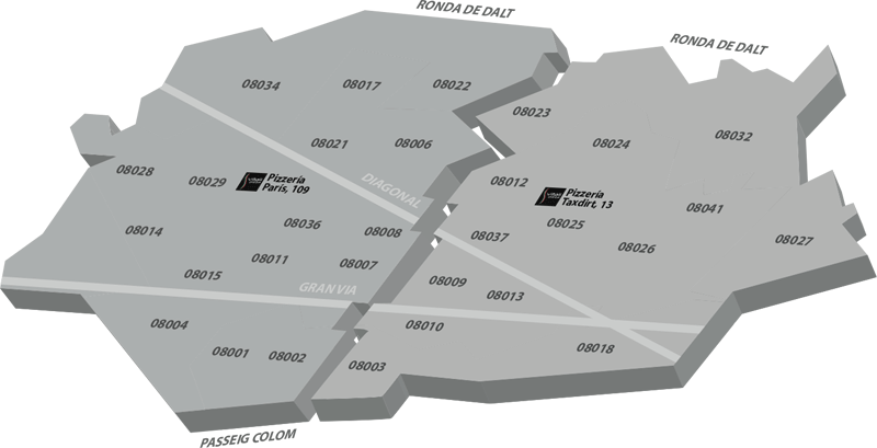 Mapa Vitali Pizza Barcelona