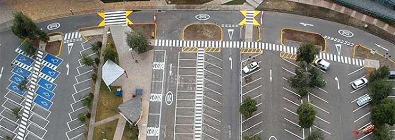 Demarcación de estacionamientos