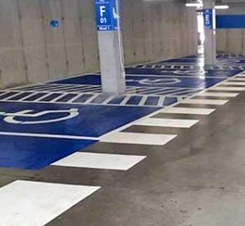 Demarcación estacionamiento discapacitados