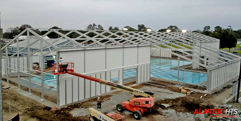 Carpas industriales para piscinas