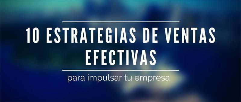 Estrategias de ventas efectiva