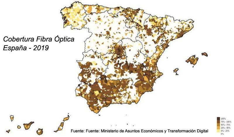 Cobertura de fibra óptica España