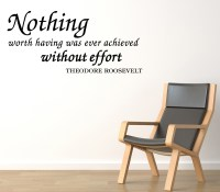 Nothing-Worth-Having-Roosevelt-Vinyl-Wall-Quote-Decal ...
