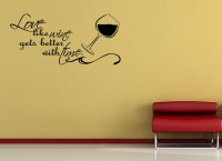 LOVE-LIKE-WINE-GETS-BETTER-Vinyl-Wall-quote-Mural-Decal ...