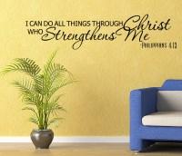 Religous Bible verse Vinyl Wall quote Decal home Decor ...