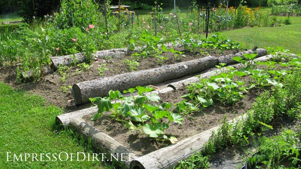 Ideas For Your Home Veggie Garden Use Logs To Form Raised Beds