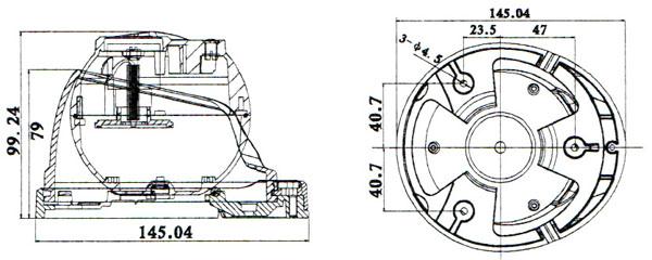 Domo IR Exterior Sensor SONY 1/3 720p/1000TVL, Varifocal 2