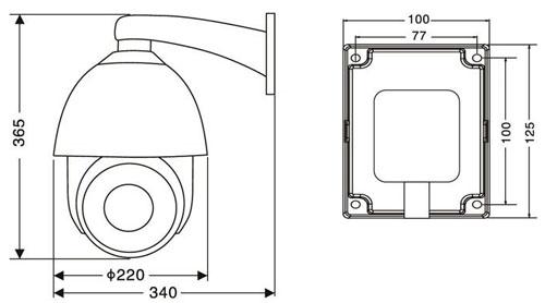 Cámara Analoga Ptz 1/2.8pulg Sony Cmos, 27x, 3.2- 86.4mm
