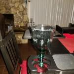 Different angle wine glass base