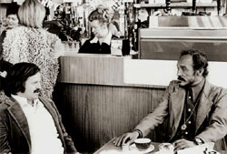 A.D. Winans & Bob Kaufman at Cafe Trieste in 1976. Photo © Richard Morris, 1976.