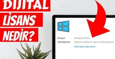 dijital lisans nedir