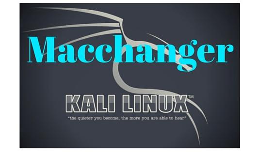 Kali Linux MacChanger Kullanımı