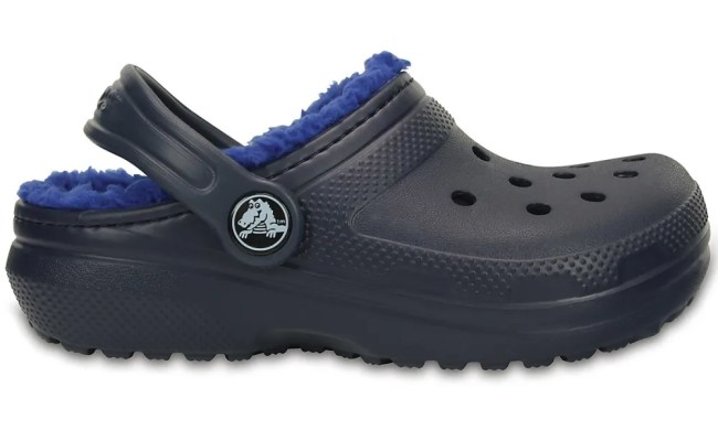 Crocs Kids Classic Lined Clogs Navy Blue Eastern