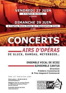 Concerts 27 et 29 juin 2014