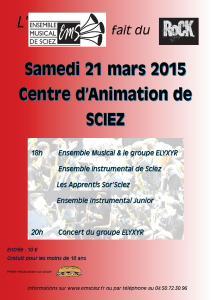 Concert 21 mars 2015