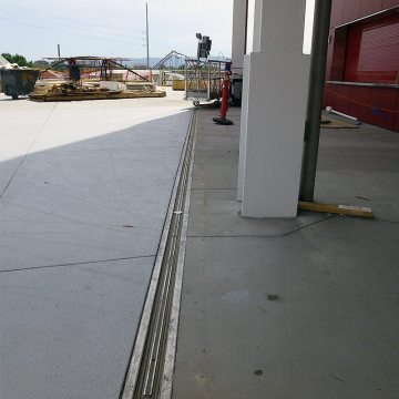 Stadium concourse expansion joints with SJS-FP from EMSEAL