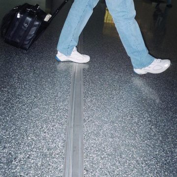 Airport floor expansion joint resists point loads FS 75 from EMSEAL