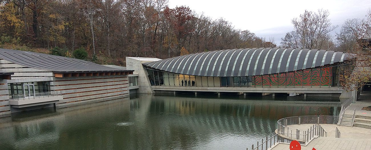 Museum Expansion Joints by EMSEAL at Moshe Safdie's Crystal Bridges Museum of American Art, Bentonville, Arkansas