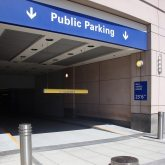 Parking Garage Expansion Joints - Unobtrusive, Quiet, Watertight, Trafficable Coverplate with No Invasive Anchors– SJS SYSTEM at Boston Prudential Center Parking Entrance