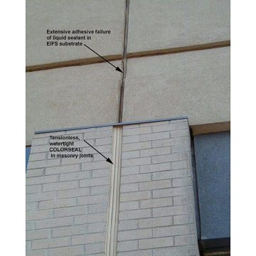 Colorseal in brick expansion joint with matching silicone