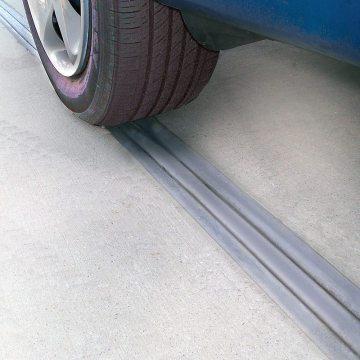 DSM in parking garage with car tire EMSEAL