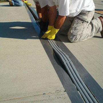 Parking garage car park expansion joint joins in DSM System from EMSEAL