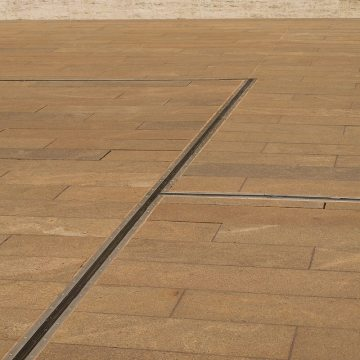 Plaza Deck Expansion Joints Lincoln Performing Arts Emseal demonstrates change in direction