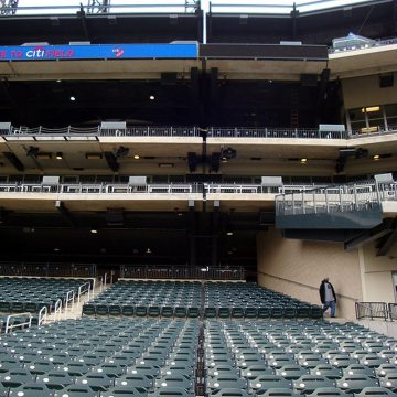EMSEAL's stadium expansion joints bisect the entire structure at New York Mets Citifield.