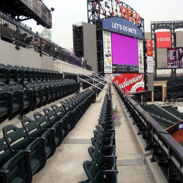 Finished installation of SJS Seismic Joint System at New York Mets CitiField.