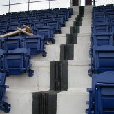 Once installed and locked into the reinforced header material, the treads and riser are watertight.