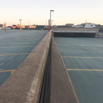 VA USPTO Parking Garage Expansion joints horizontal colorseal parapets
