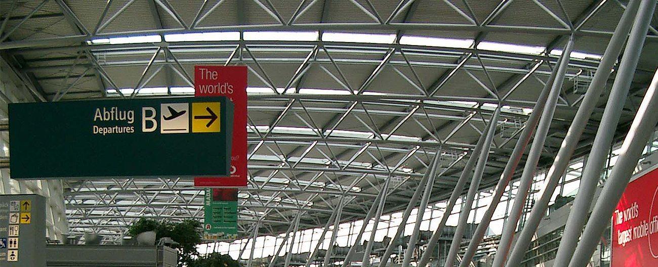 GDR airport floor expansion joints Dusseldorf airport Migutrans FS 110 duty free Migua EMSEAL