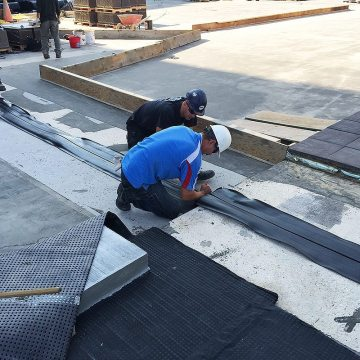 EMSEAL RoofJoint roof expansion joint factory fabricated curb transition dryfit