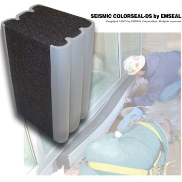 Seismic ColorSeal-DS double-side expansion joint for curtainwall EMSEAL
