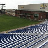 SDSU Jackrabbits stadium metal bleacher stadium expansion joints by EMSEAL