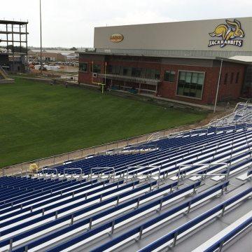 SDSU Jackrabbits stadium metal bleacher stadium expansion joints by EMSEAL